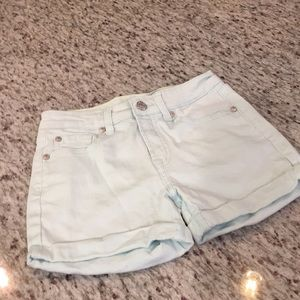 Girls 7 for all mankind mint green shorts